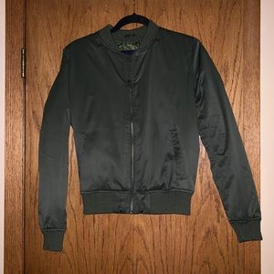 American Eagle Bomber Jacket In olive green